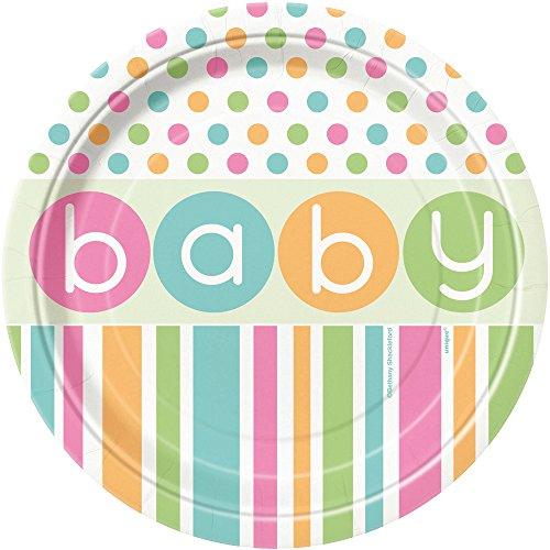 Pastel Baby Shower Dessert Plates, 8ct