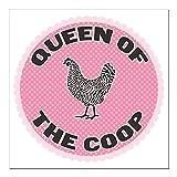 "CafePress - queen-1 Square Car Magnet 3"" x 3"" - Square Car Magnet, Magnetic Bumper Sticker"