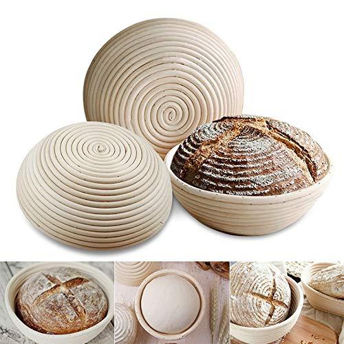 Banneton Proofing Basket - Natural Rattan Fermentation Wicker Basket bowl Country Baguette French Bread Mass Proofing Baskets Dough Banneton Baskets - by SHA - 1 PCs by SHA (Image #6)
