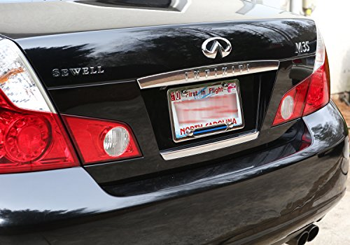 Stainless Steel Polished Mirror License Plate Frame (Thin Blue Line ...