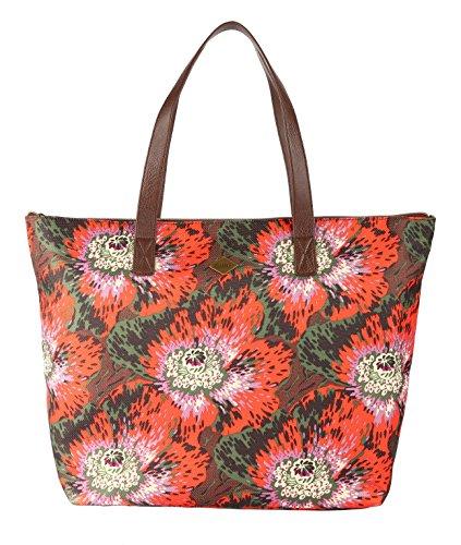 Oilily Winter Flowers Basic Shopper Borsa Wild Arancione Sitio Oficial Envío Libre oLCzuSvCIl
