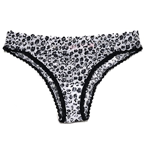 Victoria's Secret Lacie Panties Low Rise Cheekini (X-Small, Leopard) ()