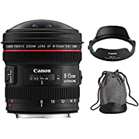 Canon EF 8-15mm f/4L Fisheye USM Ultra-Wide Zoom Lens for Canon EOS SLR Cameras International Version (No warranty)