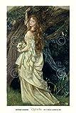 Ophelia 1865 by Arthur Hughes Portrait Woman Figure Tree Poster (Choose Size of Print)