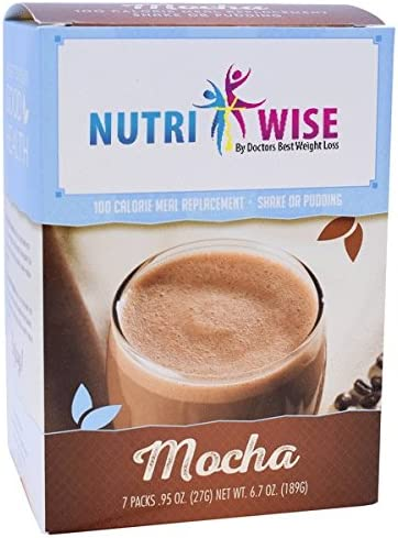 NutriWise - Mocha Meal Replacement Diet Shake, 100 Calories, 15g Protein