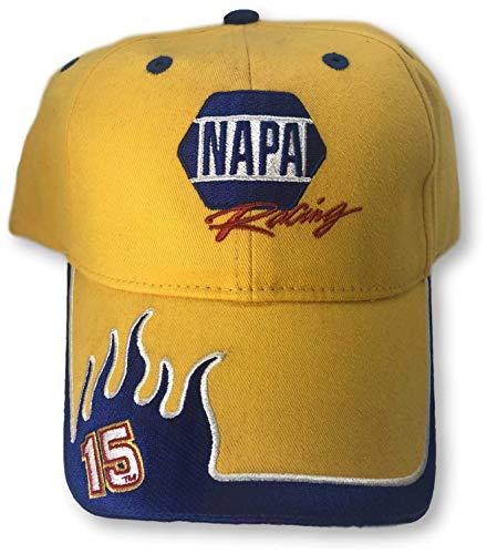 LSD NAPA Racing #15 Michael Waltrip Racing Vintage Flames Adjustable Cap Hat