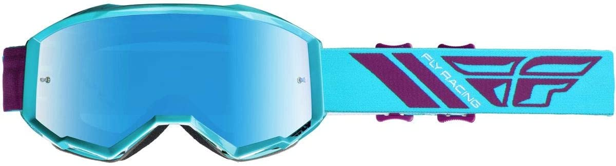 Sky Blue Mirror//Smoke//One Size Fly Racing Youth Single Lens with Post Off-Road Motorcycle Goggle Accessories