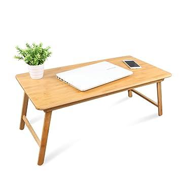 Mesa Ordenador Plegable Tabla Grande del Ordenador Portátil para El Sofá Y La Cama, Escritorio Plegable Multiusos Portátil De Bambú (Size : 84 * 42.5cm): ...
