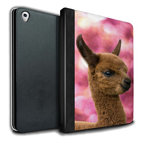 STUFF4 PU Leather Book/Cover Case for Apple iPad Pro 9.7 Tablets/Cria/Baby Design/South America Alpaca Collection