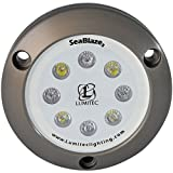 Lumitec Lighting 101058 SeaBlaze3 LED Underwater Boat Light, Surface Mount, Non-Dimmable, Light White/Blue