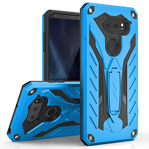 LG V30 Case - Zizo [Static Series] Shockproof [Military Grade Drop Tested] w/ Kickstand [LG V30 Heavy Duty Case] Impact Resistant, Blue/Black