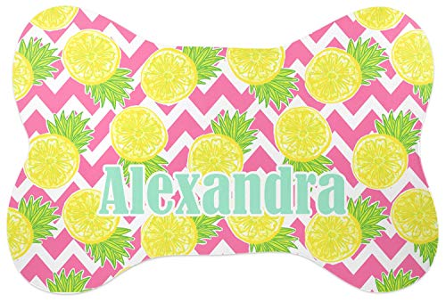 - RNK Shops Pineapples Bone Shaped Dog Food Mat (Personalized)
