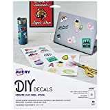 "Avery Decals with Surface Safe Removable Adhesive,Water & Tear Resistant, 8.5"" x 11"", 3 Labels (61512)"