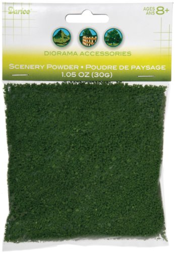 Darice 3700-29 Scenery Powder, 30gm, Dark Green