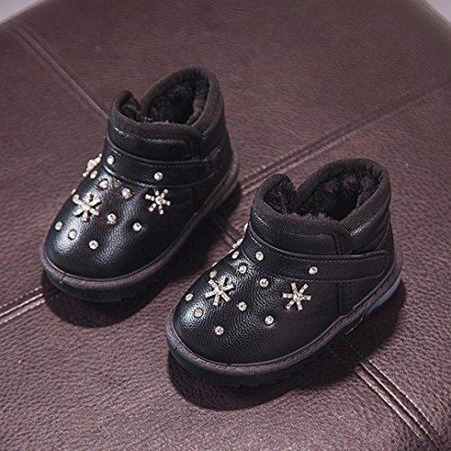 VEMOW New Children Autumn Toddler Cartoon Fur Warm Baby Girls Luminous Shoes Sneakers Boot Black 4sK9M8FU9