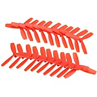 BangBang 10 Pairs Racerstar 2030 R-BN55X3 55mm 3 Blade Propeller Bullnose 1.5mm Hole For 1103-1106 Motor (10 Pairs: Color Red)