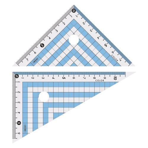 共栄プラスチック カラー三角定規 CPK-120 [オフィス用品]