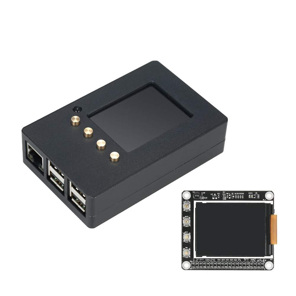 AppleLand Aluminum Alloy Enclosure Case DIY Kit with 2.2 Inch High PPI TFT LCD Screen for Raspberry Pi 2 Model B/B+ / Pi 3 - Quarkscm