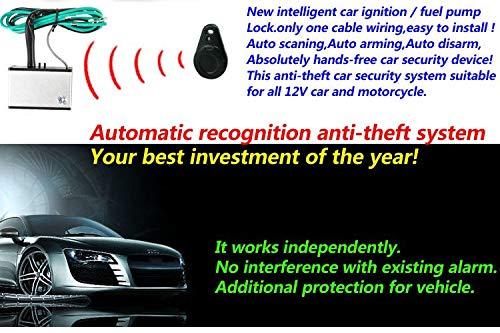 Amazon.com: 433 Mhz frecuencia contacto envío Digital cerradura de encendido auto Armado inmovilizador unidireccional sistema de seguridad alarma desarmar ...