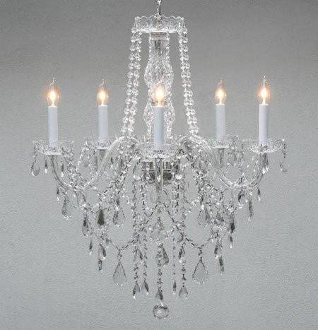 Authentic All Crystal Chandelier Chandeliers Lighting H30 X W24