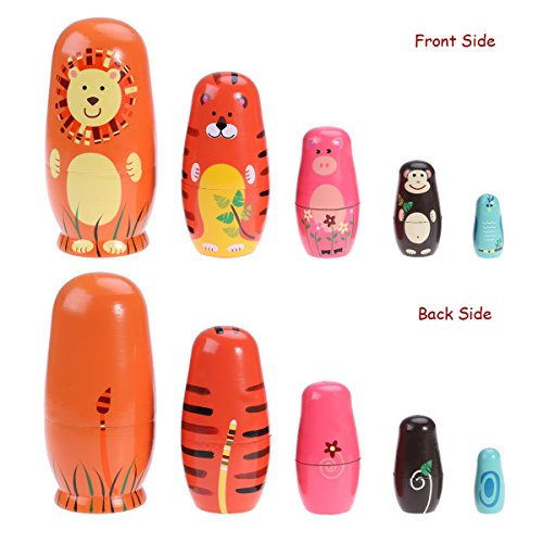 toymytoy  : TOYMYTOY Nesting Dolls Five Cute Russian Dolls Toy Gift ...
