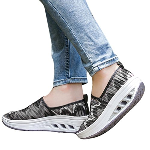 VEMOW Sports Outdoor Shoes for Women, Trainers Mary Janes Cute Lace-up Flats Flip Flops Thongs Espadrilles Wedge Running Walking Dance, Fitness Mesh Shake Platform Sneaker Camouflage