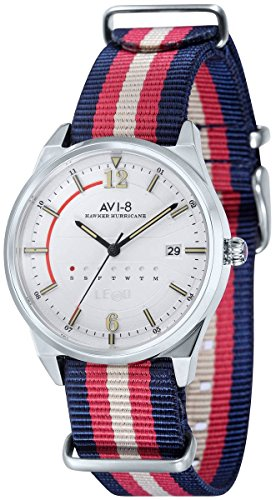 AVI-8 Mens Hawker Hurricane Watch - Red/Blue/White