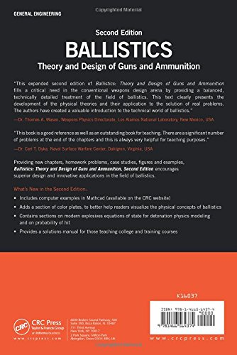 Ballistics: Theory and Design of Guns and Ammunition, Second Edition