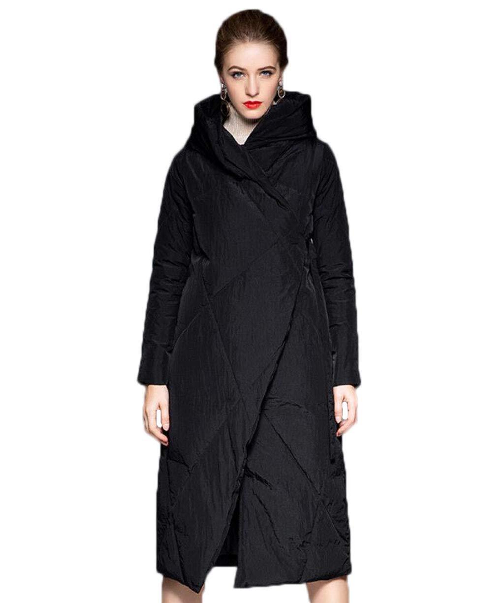 ACVXZ Manteau en Coton à Capuchon pour Femmes Outwear Long