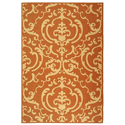Safavieh Courtyard Collection CY2663-3202 Terracotta and Natural