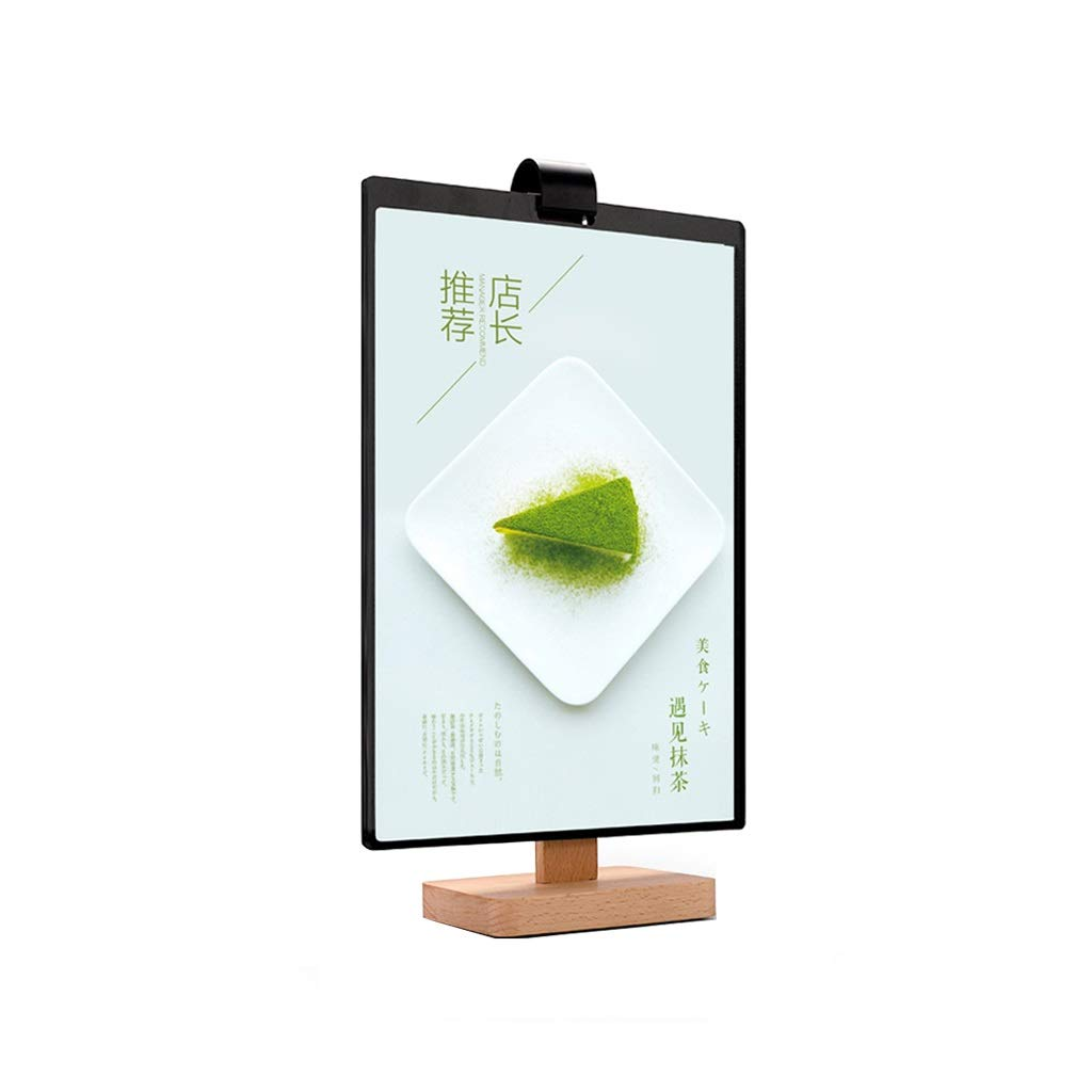 LPYMX Menu Holder Two Loaded Double-Sided A4 Page menu Sign Stand Display Stand Poster Frame menu Holder A4 Display Stand by LPYMX