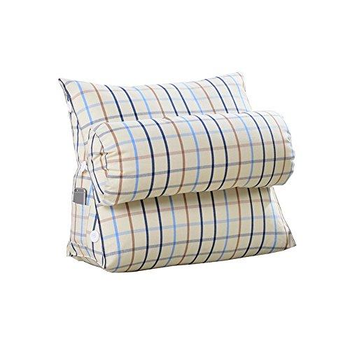4 452245cm JNYZQ Chevet triangle coussin grand coussin coussin moelleux coussin de bureau oreiller canapé oreiller lombaire (Couleur    4, taille   45  22  45cm)