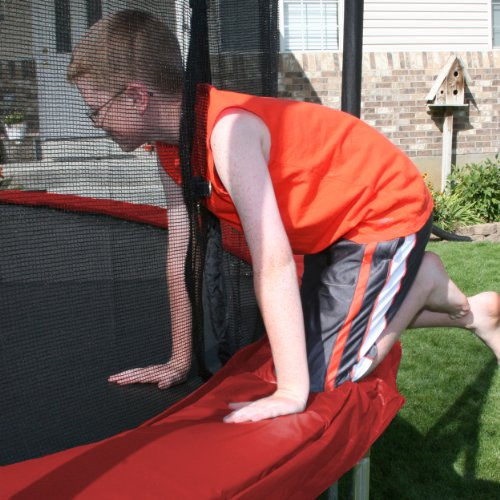 Skywalker 12-Feet Round Trampoline with Enclosure, Red by Skywalker Trampolines (Image #4)