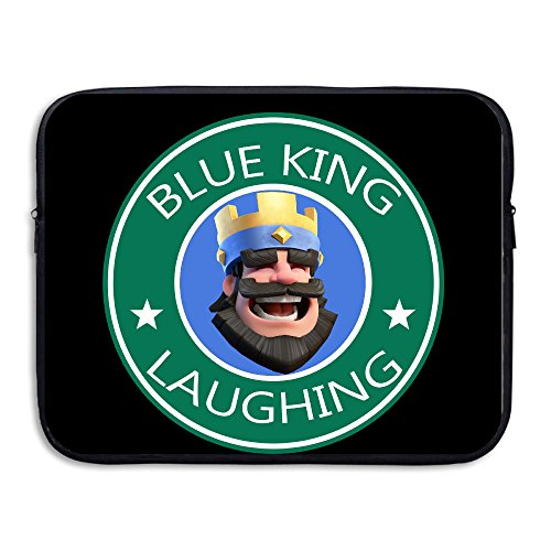 Custom Funny Blue King Laughing Waterproof Notebook Protector Cover Bag 13 Inch - Fire King Laptop