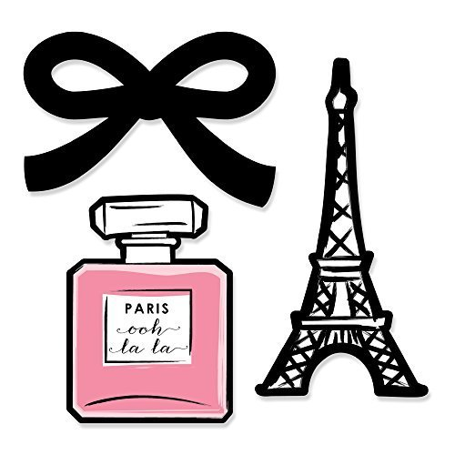 Big Dot of Happiness Paris, Ooh La La - Paris Themed DIY Shaped Baby Shower or Birthday Party Cut-Outs - 24 Count -