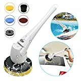 Electric Cordless Power Scrubber Spin Cleaning Brush Tool with 5 Interchangeable Brushes for Bathroom Swimming Pool Wall and Floor Outdoors Indoors