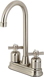 Kingston Brass KB8498ZX Millennium Bar Faucet, Brushed Nickel