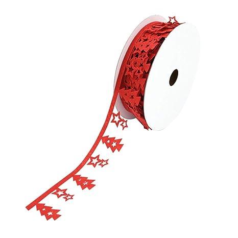 Amosfun 1 Rollo de Cinta de Textil No Tejido de Navidad ...
