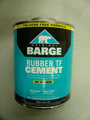 (Ortu leather - BARGE Original Rubber Cement Quabaug For Shoe Repair, Leather Craft - 1 Quart tin can by Ortu leather)