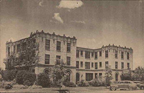Bay Tex Hotel Bay City  Texas Original Vintage Postcard
