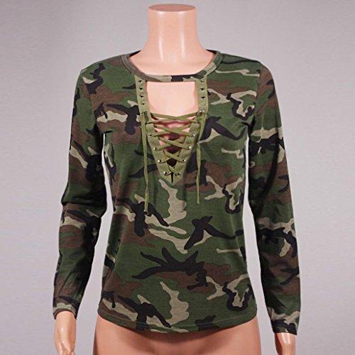 Tefamore Camouflage Longues Manches À Chemise rqFg6FZP