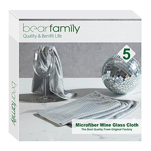 Microfiber Cloth Mirror Wine Glass Goblet Stemware Cleaning Cloth 20