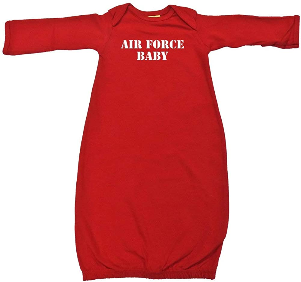 Air Force Baby Military Armed Forces Soldier Baby Cotton Sleeper Gown