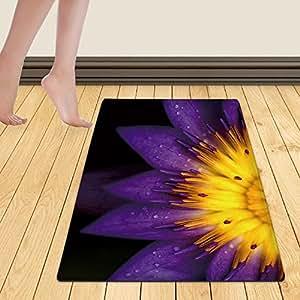WelFriday custom door mats 11235199 symmetrical lotus for conceptual photo,W16 x L24 inch