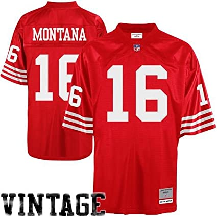 b821dab08 Image Unavailable. Image not available for. Color  NFL Mitchell   Ness Joe  Montana San Francisco 49ers Replica Retired Player Jersey ...