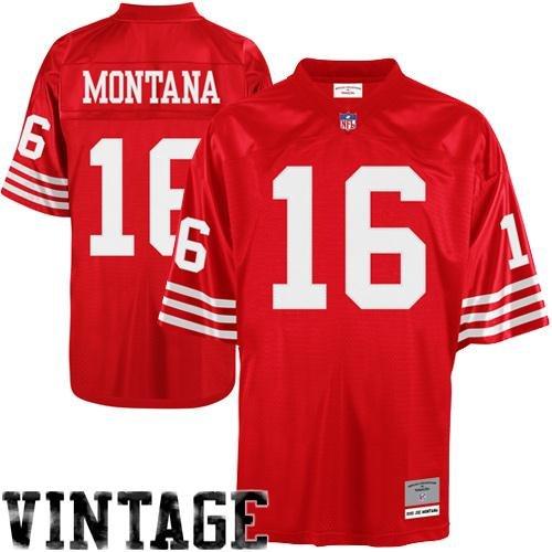 NFL Mitchell & Ness Joe Montana San Francisco 49ers Replica Retired Player Jersey - Scarlet (Joe Montana Football Jersey)