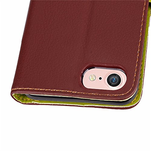 Voguecase® Pour Apple iPhone 7 Coque, Étui en cuir synthétique chic avec fonction support pratique pour Apple iPhone 7 (Dragonne-Marron)de Gratuit stylet l'écran aléatoire universelle