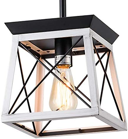 XIPUDA Farmhouse Pendant Light Fixture Kitchen Island Lighting Industrial Metal Ceiling Hanging Farmhouse Chandeliers for Dinning Room Living Room