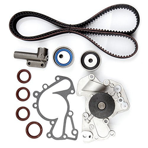 ECCPP Timing Belt Water Pump Kit for 1999-2010 Hyundai Sonata Tucson Tiburon Santa Fe Kia Sportage Optima 2.5L 2.7L V6 DOHC 24V G6BA G6BV ()