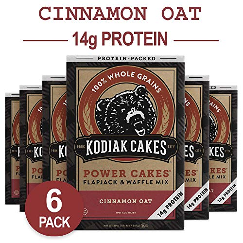 Kodiak Cakes Protein Pancake Power Cakes, Flapjack and Waffle Mix, Cinnamon Oat, 20 Ounce (Pack of ()